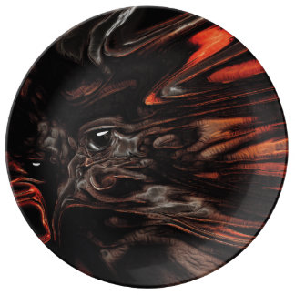 DRYAD AFLAME Surreal Tree Witch Custom Dinner Plate