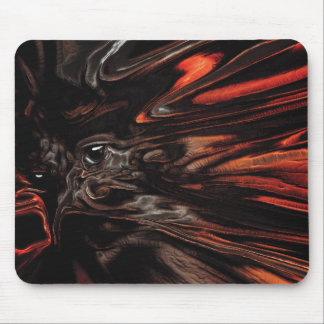 DRYAD AFLAME Surreal Tree Witch Custom Mouse Pad