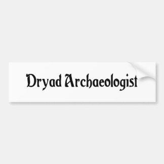 Dryad Archaeologist Bumper Sticker Car Bumper Sticker