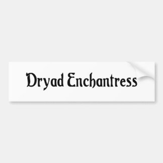 Dryad Enchantress Bumper Sticker