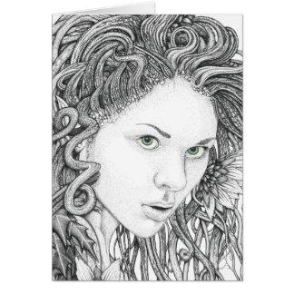 Dryad (face) - Blank Greetings Card