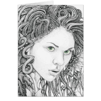Dryad (face) - Blank Note Card