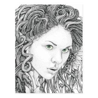 Dryad (face) - Blank Postcard