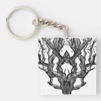 Dryad in the Tree Keychain