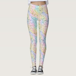 Dryad: Lavender, Snowy Mint, Wheat, Baby Pink Leggings