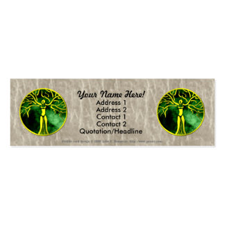Dryad Medallion Profile Card Double-Sided Mini Business Cards (Pack Of 20)