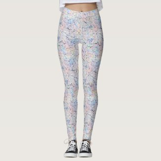 Dryad: Prelude, Pale Rose, Pattens Blue, Iceberg Leggings