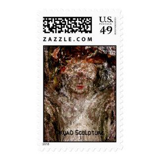Dryad Sculpture. Stamps