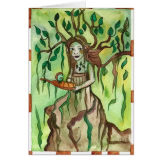 Dryad with a tray Greek Mythology Greeting Card