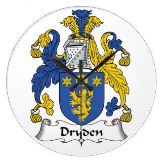 Dryden Family Crest Large Clock