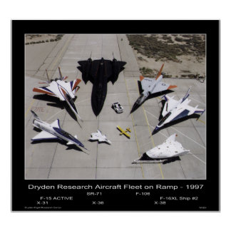 Dryden Research Aircraft Fleet on the Ramp - 1997 Posters