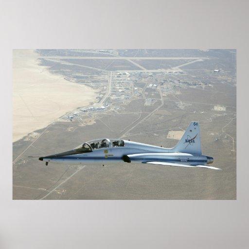 Dryden's T-38 Talon Trainer Jet in Flight Poster