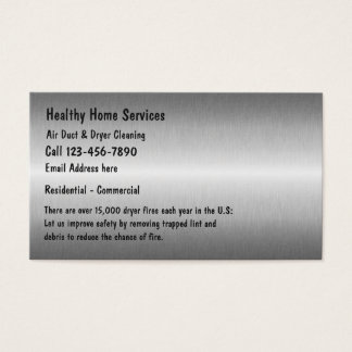 Dryer Vent Cleaning Services Business Card