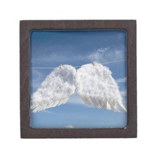 Drying angel's wings. gift box