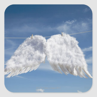 Drying angel's wings. square sticker
