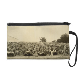 Drying leather, Argentina (albumen print on card) Wristlet Clutch