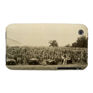 Drying leather, Argentina (albumen print on card) iPhone 3 Case-Mate Case