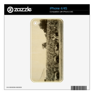 Drying leather, Argentina (albumen print on card) Decal For iPhone 4S