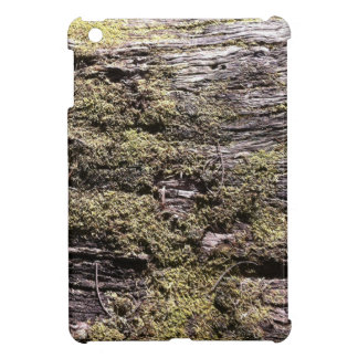 Drying moss on fallen tree decaying in wilderness iPad mini cases