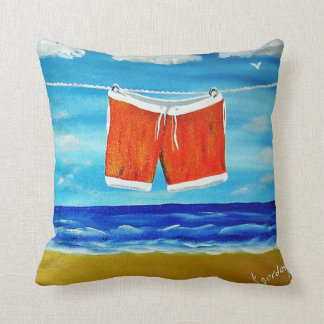 Drying Off.............Going for a Swim.......... Throw Pillows