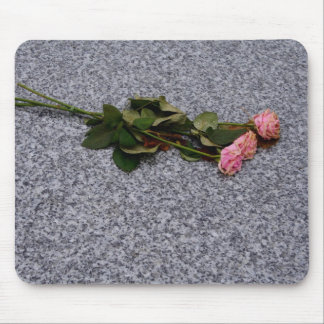drying pink roses mouse pad