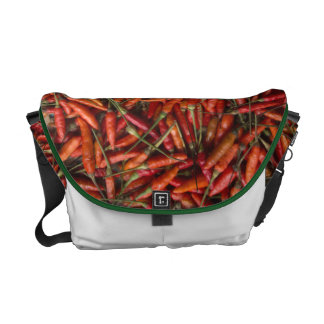 Drying Red Hot Chili Peppers Courier Bag