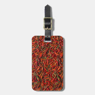Drying Red Hot Chili Peppers Luggage Tag