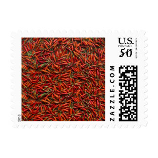Drying Red Hot Chili Peppers Postage