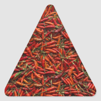 Drying Red Hot Chili Peppers Triangle Sticker