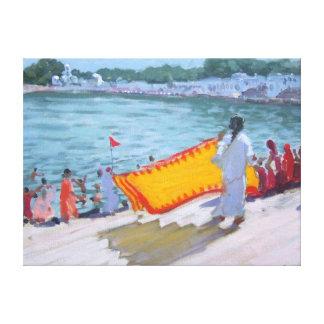 Drying Sari Pushkar Canvas Print