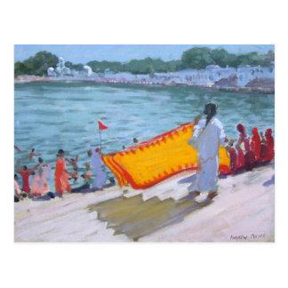 Drying Sari Pushkar Postcard