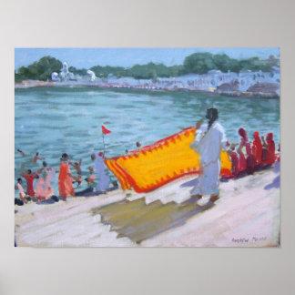 Drying Sari Pushkar Poster