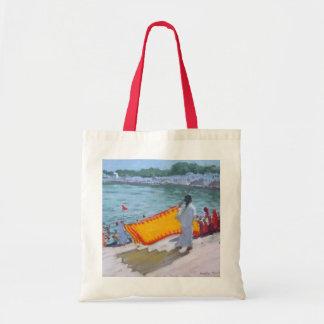 Drying Sari Pushkar Tote Bag