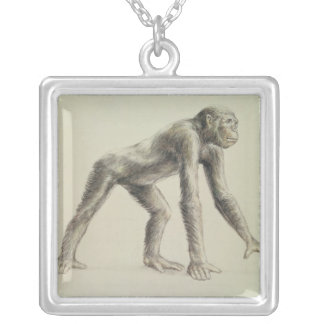 Dryopithecus Africanus Silver Plated Necklace