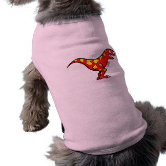 Dryptosaurus rojo playera sin mangas para perro