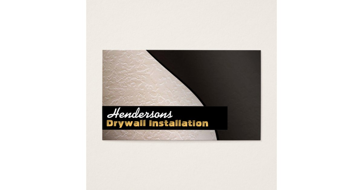 Drywall Business Cards | Zazzle.com