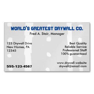 Drywall Company Tarjetas De Visita Magnéticas (paquete De 25)