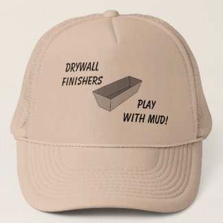 Drywall Finishers Play With Mud Hat