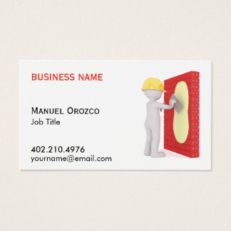 Drywall Installer Construction Work Business Cards