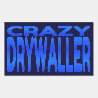 Drywaller loco rectangular pegatinas
