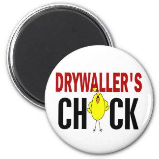 Drywaller's Chick 1 Fridge Magnets