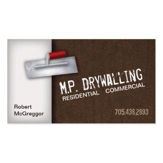 Drywalling Business Card - Trowel & Brown Texture