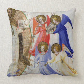 ds 558 f.67v St Dominic con cuatro ángeles Cojín