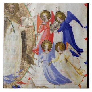 ds 558 f.67v St Dominic con cuatro ángeles musical Azulejos Cerámicos