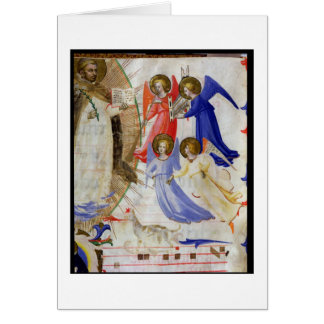 ds 558 f 67v St Dominic con cuatro ángeles musical Felicitacion