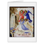 ds 558 f.67v St. Dominic with four musical angels, Greeting Card
