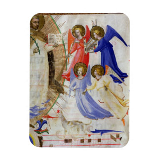 ds 558 f.67v St. Dominic with four musical angels, Magnet