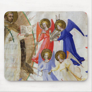 ds 558 f.67v St. Dominic with four musical angels, Mouse Pad