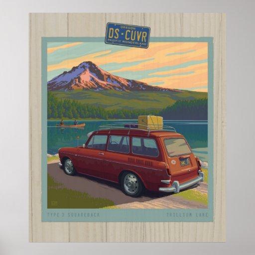 DS-CUVR Oregon: Trillium Lake Poster