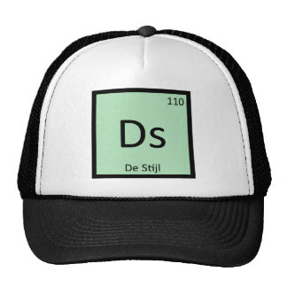 Ds - De Stijl Art Chemistry Periodic Table Symbol Trucker Hat